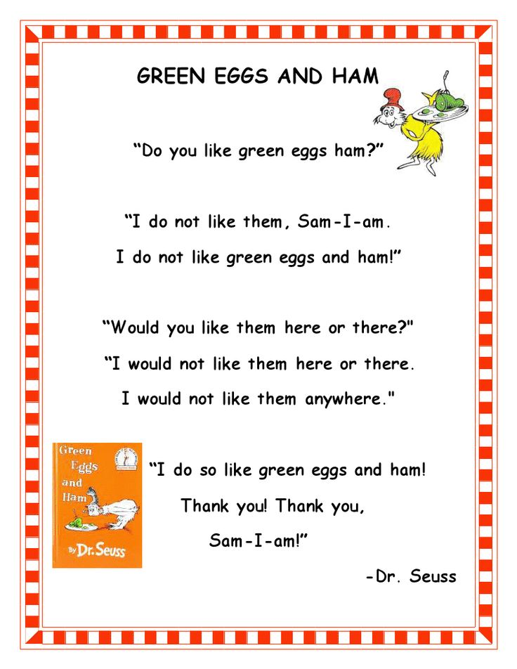 green eggs and ham by dr seuss was a real favorite when my children were little many schools still serve green eggs and ham on dr se