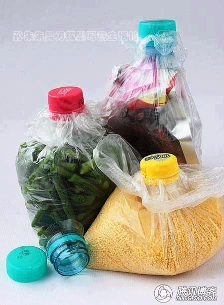 Usa las botellas usas para cerrar bolsas de comida.