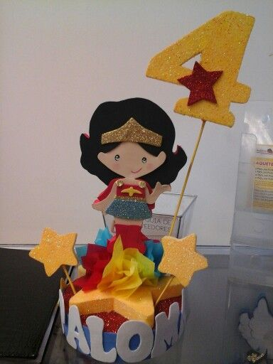 Decoraci n para pastel mujer maravilla for Decoracion wonder woman