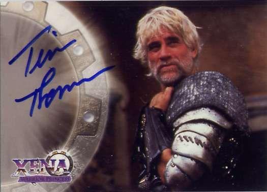 Tim Thomerson Xena | AutographA8 - Tim THOMERSON(MELEAGER) : 60 euros