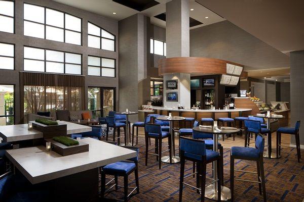 Enjoy a coffee break at Starbucks in the Courtyard Orlando Lake Buena Vista in the Marriott Village.