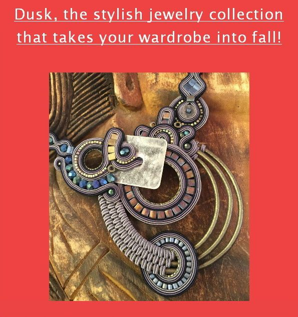 Dusk statement necklace by Dori Csengeri #doricsengeri #couturejewelry #statementnecklace #falltrends #fallfashion