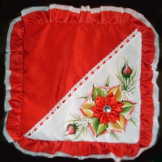 Artes e Pinturas da Dedey: Capa para Almofada (Vermelha)