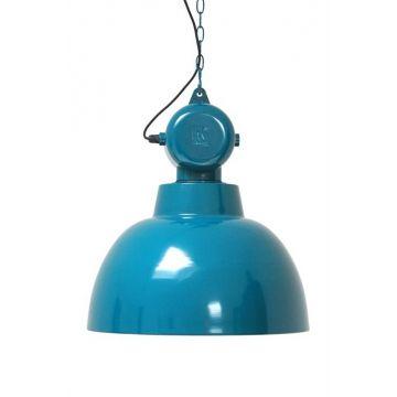 Индустриальный светильник в ярком исполнении. Черный шнур + металлическая цепь длиной 2 м             Материал: Металл.              Бренд: NAF-NAF House.              Стили: Лофт, Скандинавский и минимализм.              Цвета: Бирюзовый, Голубой.