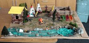california gold rush models | Grade 5 Going West Projects