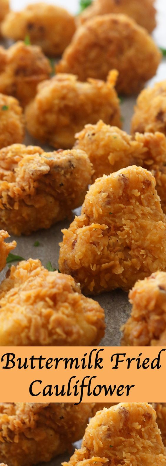 Vegetarian version of the classic buttermilk fried chicken. Crispy, crunchy, spicy cauliflower florets that are delicious as a snack or appetizer or side dish.