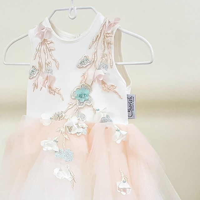 Delicate flower details🏵 Soft tulles. We loved designing this new exclusive little princess dress. 👑 Introducing the Ntsepi dress.   #luxuryfashion  #ss2018 #kidsbrand