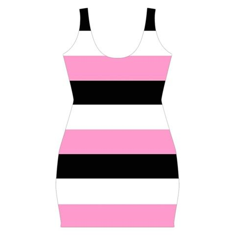 Trendy, Black, Pink And White Stripes Bandage/Bodycon Dress by celeste@khoncepts.com ($23.99)