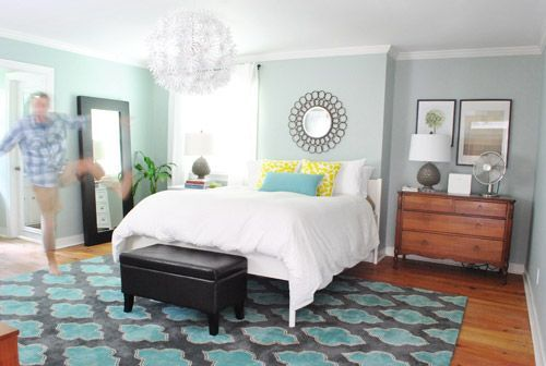 Love their master bedroom paint color | Young House Love