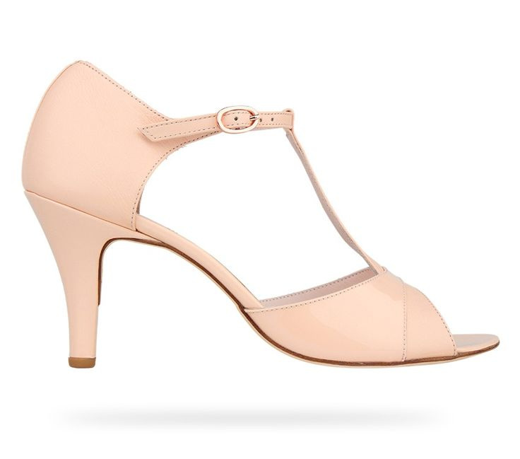 T-Strap Sandal Daria Eve Nude Patent Leather and Nappa Calfskin by Repetto.#Repetto #Wedding #WeddingShoes #Nude #Pastel