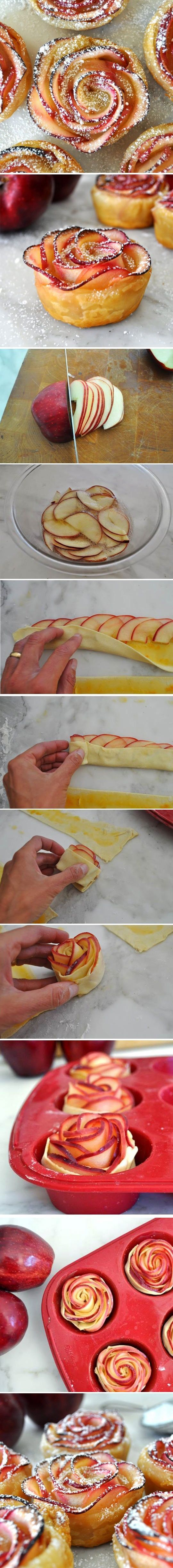 How to Make Apple Roses (cómo hacer rosas de manzana) By (por) Manuela