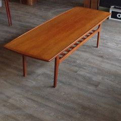 Mid Century Modern Danish Teak Coffee Table by Grete Jalk | Vintage Home Boutique