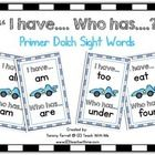 This set includes all of the words in the Primer Dolch Sight Word List.  Each card has a cute race car graphic to motivate children to see how fast...