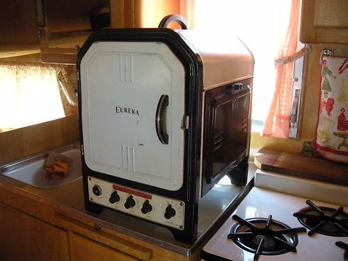 Electric Rv Stove And Oven ~ Antique eureka portable tabletop s stove oven
