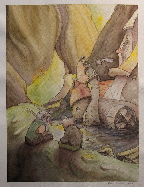 My gnome themed illustration #gnome #illustration #storybook #watercolor #HannaKenakkala