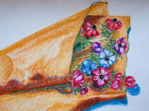 Aнемоны Масляная пастель