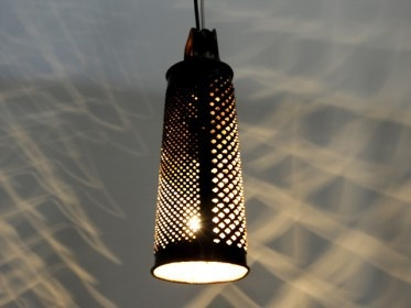 Cheese Grater Lampshade