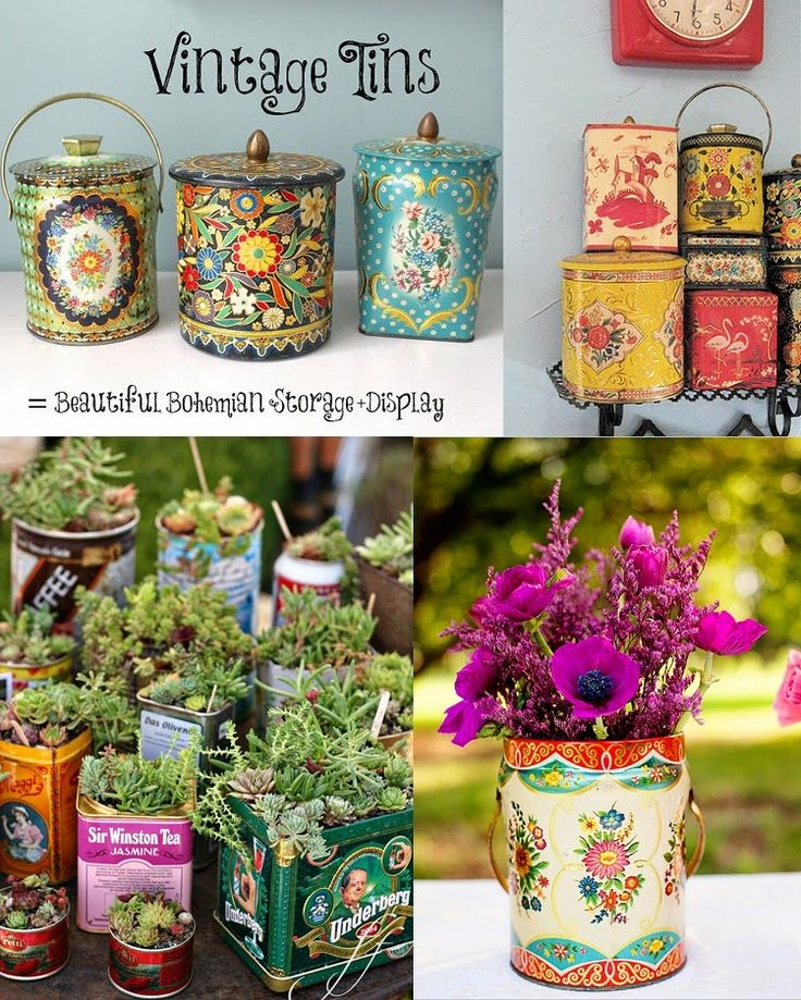 GypsyYaya- Versatile Vintage Tins For Spring Organization