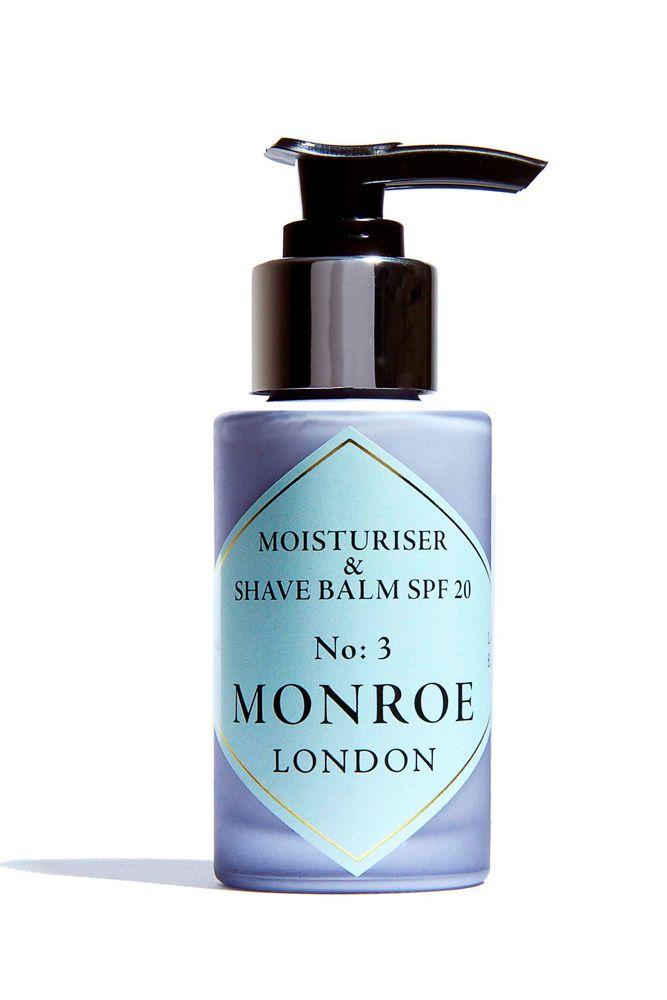 1. Moisturiser & Shave Balm SPF20, de Monroe London