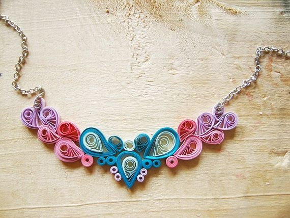 Hey, I found this really awesome Etsy listing at https://www.etsy.com/listing/212906438/paper-necklace-wedding-anniversary-gift
