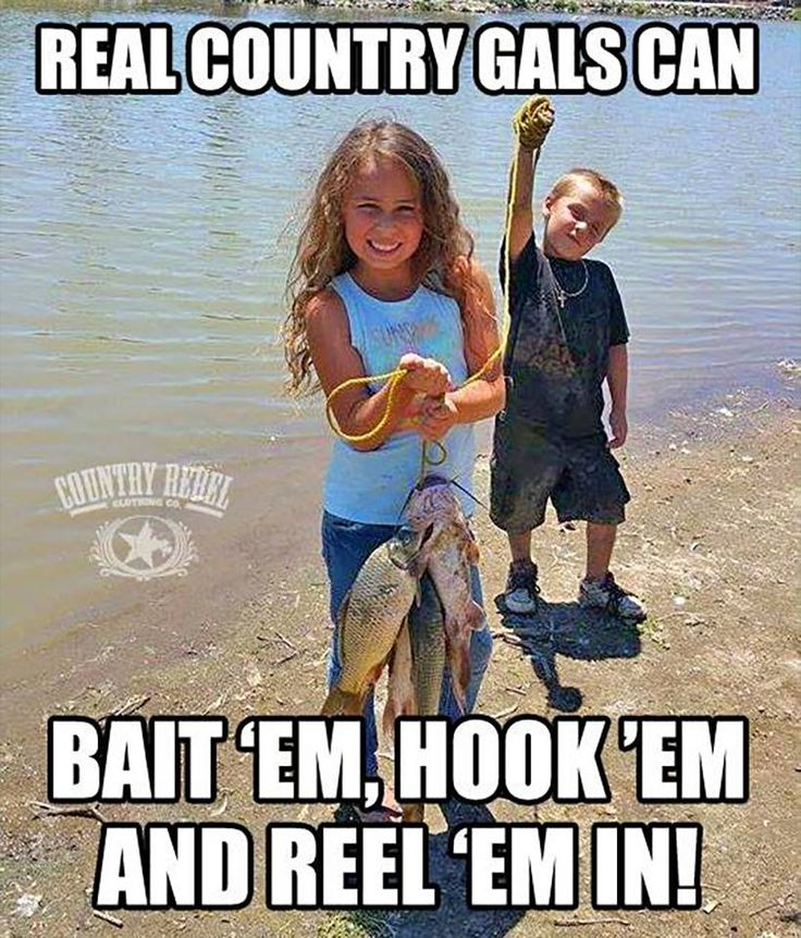 Real country gals can bait 'em, hook 'em and reel 'em in! #countrylife…