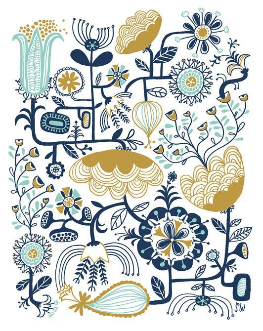 Flower Machine #illustration   Sarah Walsh