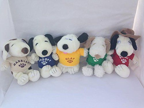 Peanuts Snoopy Plush Set of 5 Included Spike, Andy, Marbles, Olaf and Snoopy Peanuts http://www.amazon.com/dp/B0117O7WYE/ref=cm_sw_r_pi_dp_w7Yswb0N94BJT