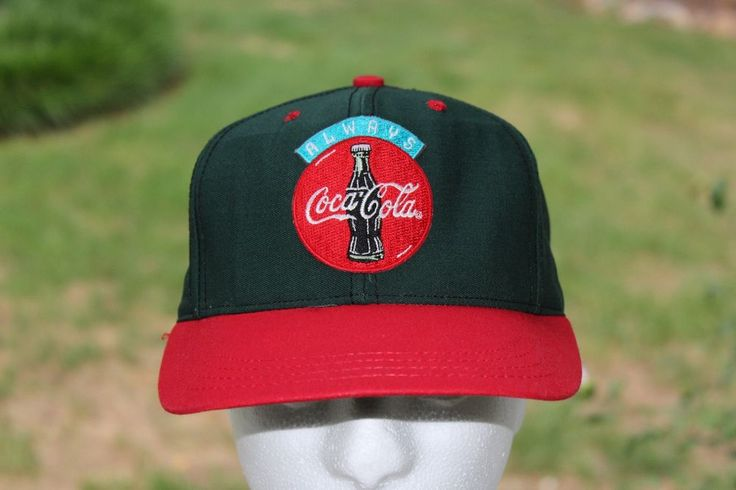 Vintage ALWAYS COCA COLA Green And Red Snapback Employees Hat Cap