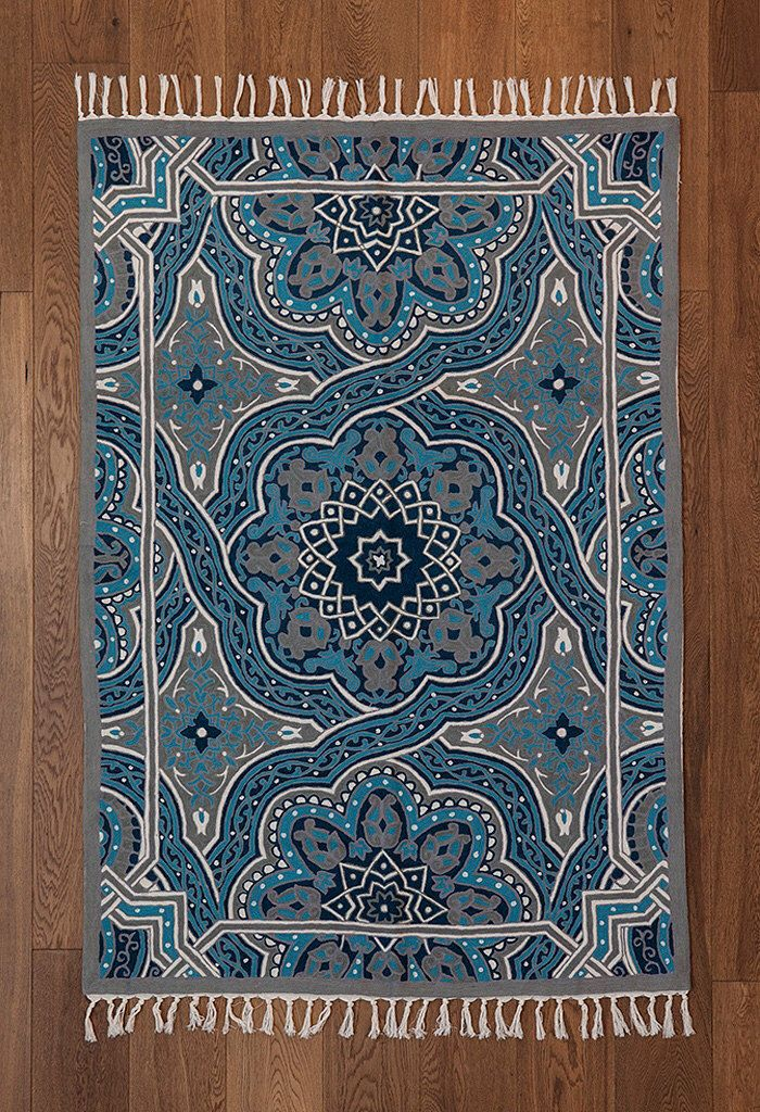 Mandala rug,turquoise area rug,4x6 area rugs,royal blue rug,5x8 area rugs,affordable area rugs,oriental rugs for sale,FREE SHIPPING! by Carpetism on Etsy https://www.etsy.com/listing/228831918/mandala-rugturquoise-area-rug4x6-area