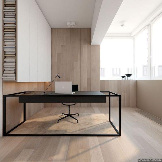 Clean office design.