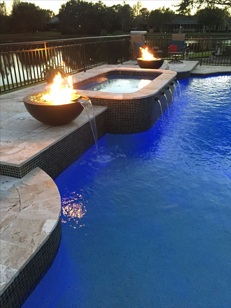 15 best images about fire and water features on pinterest fire pits gas fires and water fountains for Fire features for swimming pools