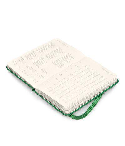 Moleskine 2014 Diary - Weekly Horizontal - Extra Small (6.5x10.5cm) - Oxide Green - Hard Cover