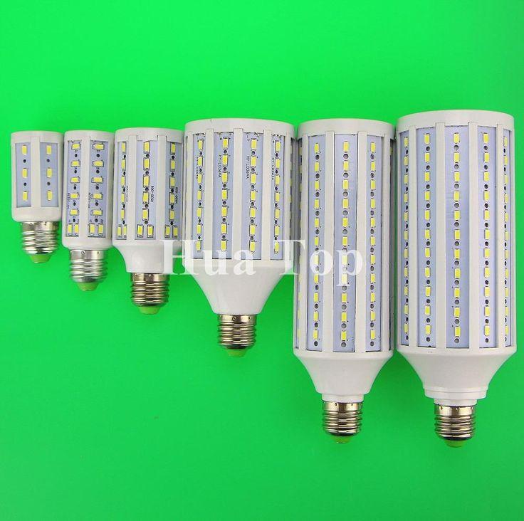 [Visit to Buy] E27 B22 E14 E40 7W 15W 20W 30W 50W 60W 80W 100W 5730 SMD Cree chip Corn Light AC 110V 220V LED Bulb Lamp Cool Warm White Lampada #Advertisement