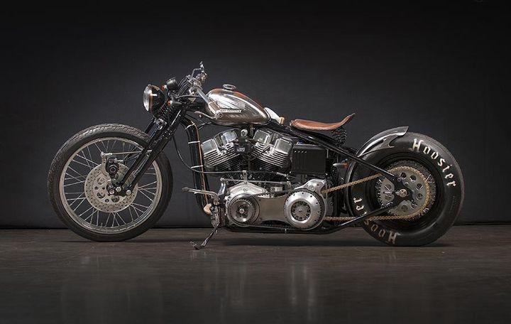 S&S Shovelhead Bobber Sub Zero by Gasolina #motorcycles #bobber #motos   caferacerpasion.com