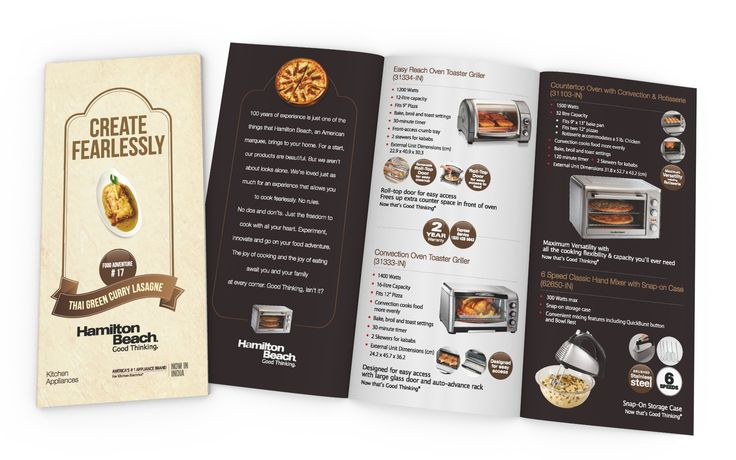Product Catalog (Appliances) Design for HAMILTON BEACH BRANDS (USA)