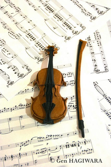 violin by gen hagiwara via flickr origami pinterest
