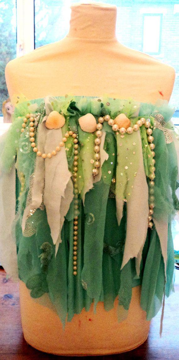 Mermaid sea princess top bralet costume halloween by meggiebread, £30.00