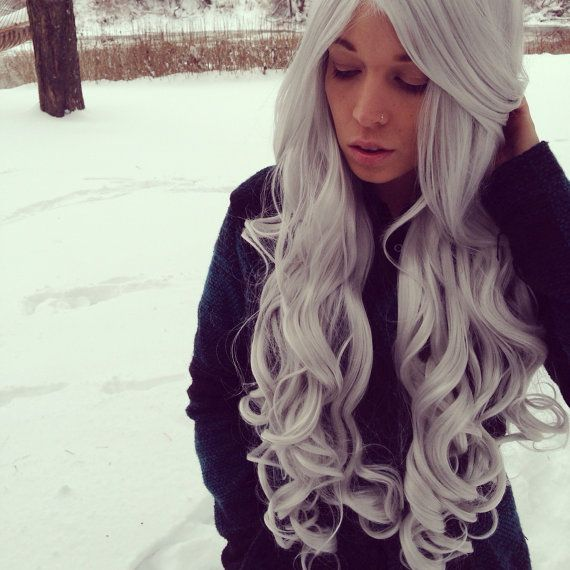 13 best gray hair extensions images on pinterest make up handmade grey wig silver hair gray hair extensions heat resistant wig new pmusecretfo Image collections