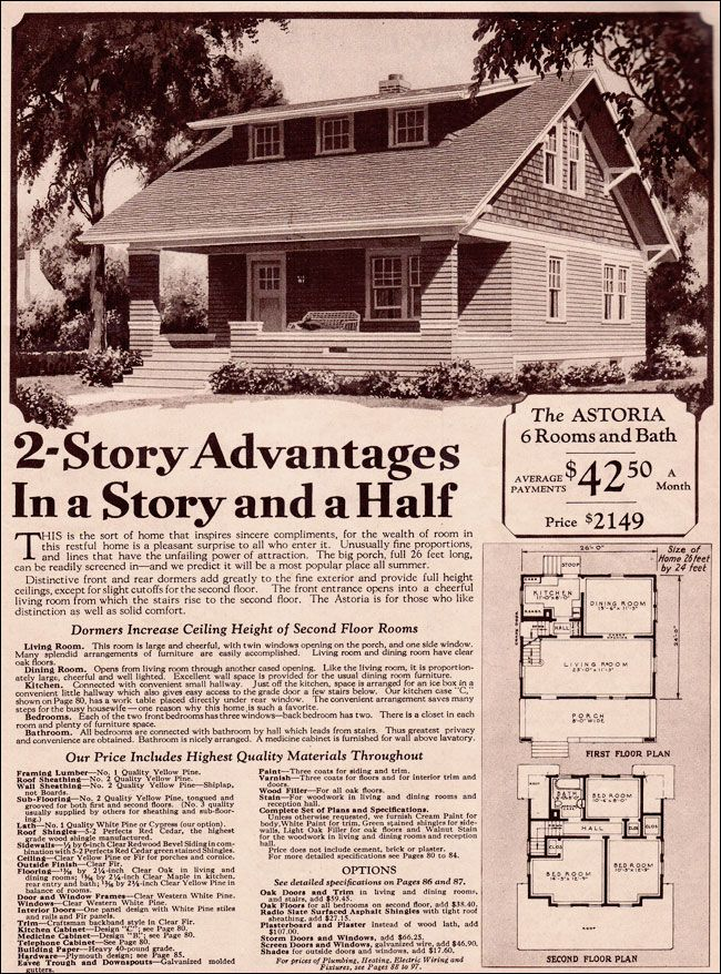 By 1930 The Classic Bungalow Plan Of The Teens Was Starting To Fade From The Catalogs And Plan Bo Vintage House Plans Craftsman Style Bungalow Small Bungalow