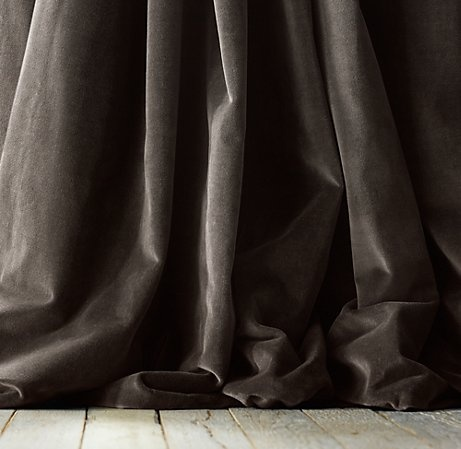 vintage velvet draperies at Restoration Hardware