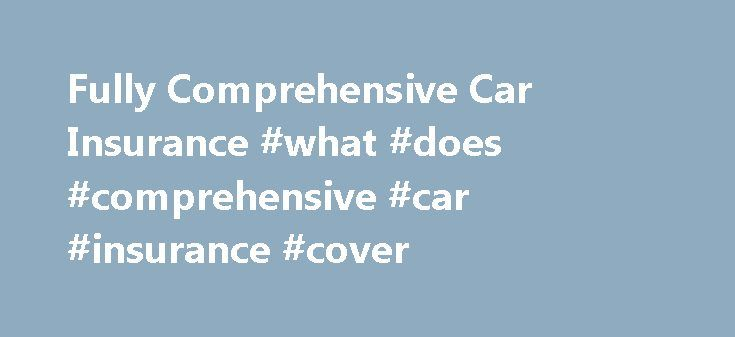 Fully Comprehensive Car Insurance #what #does #comprehensive #car #insurance #cover http://namibia.remmont.com/fully-comprehensive-car-insurance-what-does-comprehensive-car-insurance-cover/  Fully Comprehensive Car Insurance What is fully comprehensive car insurance? Comprehensive motor insurance offers the highest level of cover and provides protection for yourself and for others if you injure another person or damage another vehicle or property in an accident. It also includes cover if…
