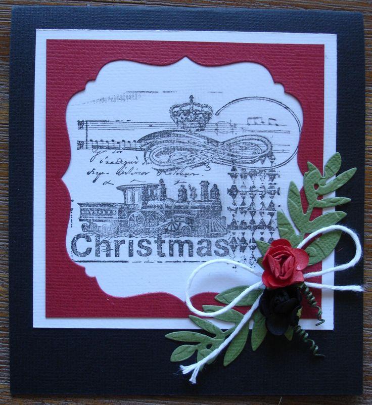 Christmas card found in a 'DIY' kit by designer Meg, from www.wholelottahappy.com.au