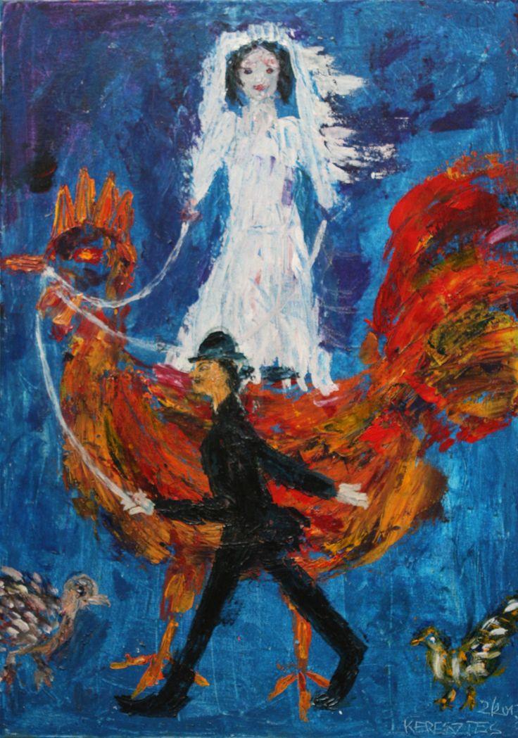 Toile LA MARIEE - Magdalena Keresztes, artiste peintre à Amiens