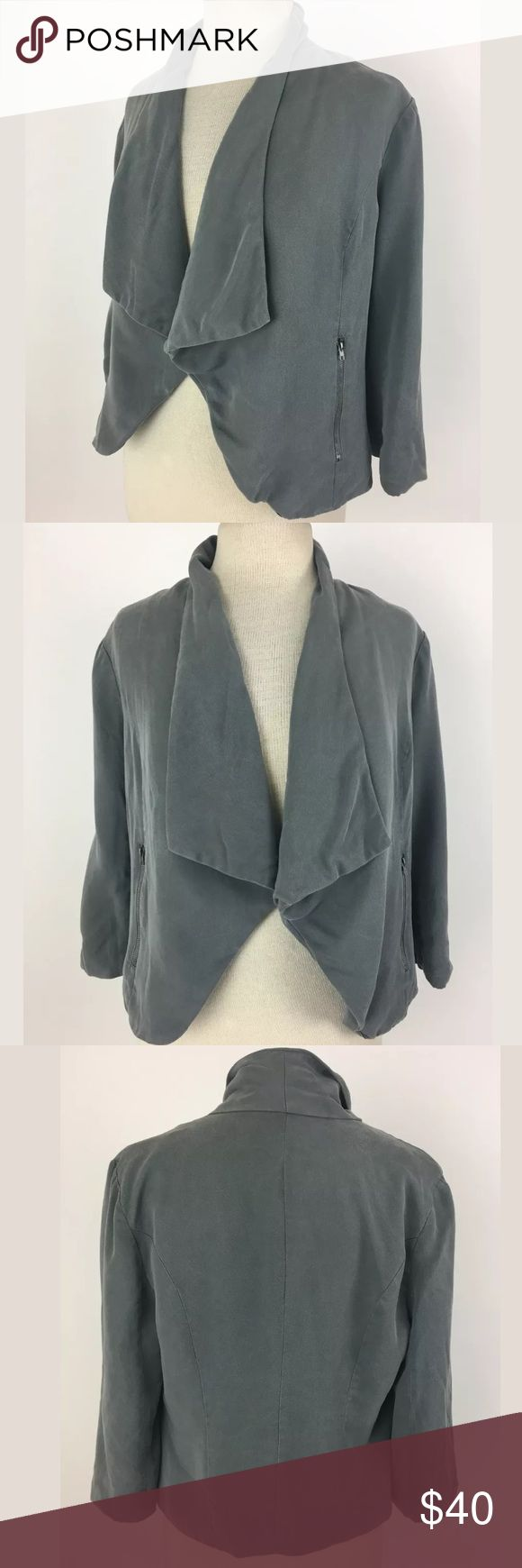 41 Hawthorn Stitch Fix jacket Length Shoulder To Hem: 22 Bust: 38 Waist: 30 Fabric Content: 100% Lyocell This is actually marked medium, but does not fit like a typical medium which is why I put it under small. I am normally a medium and I can't even reach forward wearing this. Please buy accordingly.  Item #107 41 Hawthorn Jackets & Coats