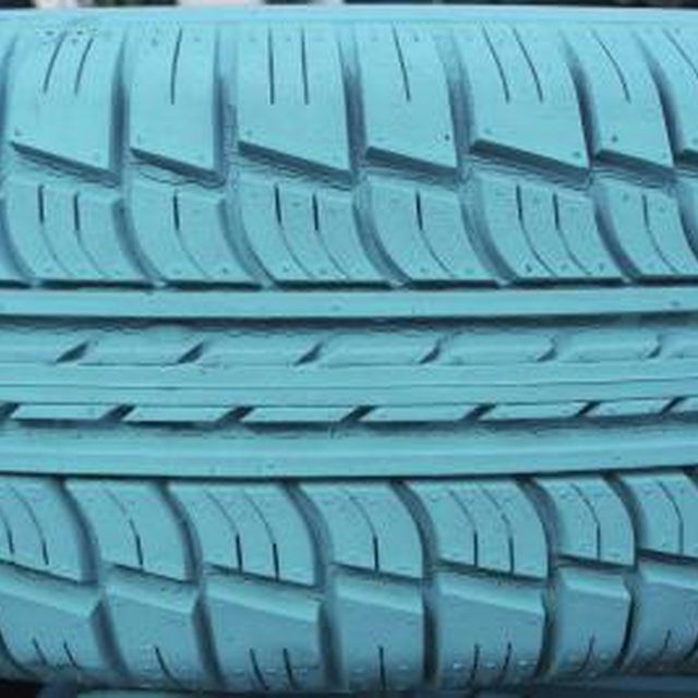 Use a spray paint such as Fusion for Plastic or with a flexible compound for rubber -- Outdoor Paint Only - A non-toxic outdoor paint is typically recommended for painting tires.