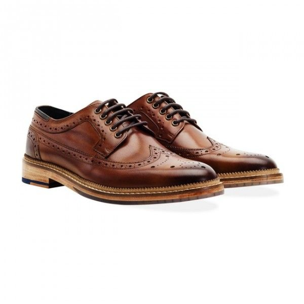 Goodwin Smith Fence Tan Brogues Don't sit on the fence. These chunky brogues scream confidence. Premium derby brogues with a hand painted brush stroke effect burnished finish. £135 Order yours > http://www.kindredsole.com/designers/goodwin-smith-shoes/goodwin-smith-fence-tan-mens-brogues.html