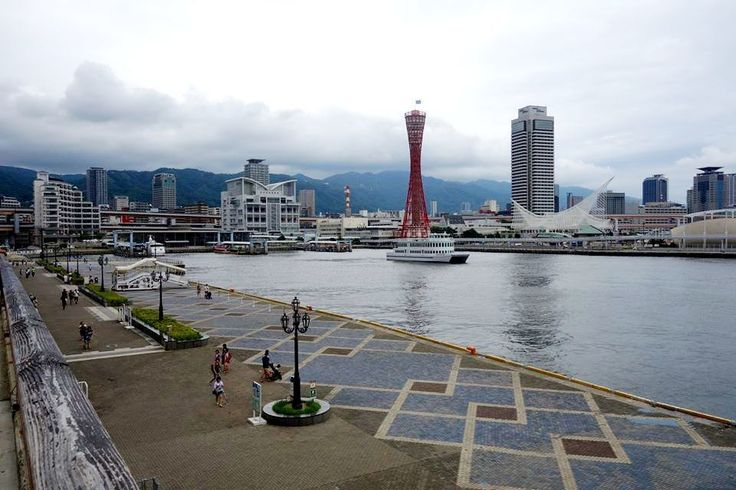 """– Mika no sekai - Japan: """"The most famous view in Kobe - port area. Across the water you can see Kobe Port Tower and the Kobe…"""""""