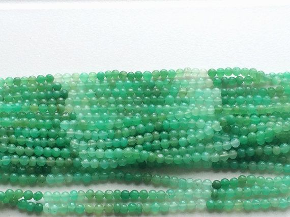 WHOLESALE 5 Strands Chrysoprase Shaded Plain by gemsforjewels