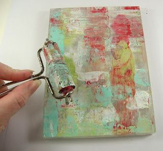 Monoprinting using a stamping block instead of the traditional Gelli plate!