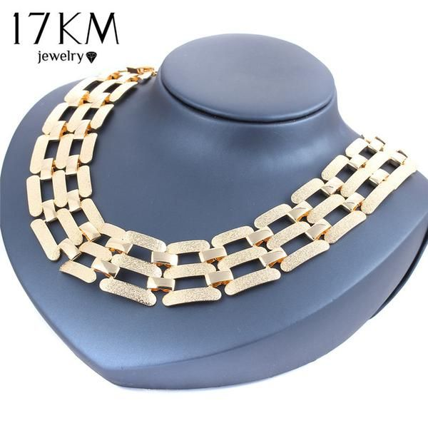 New Fashion Alloy Necklace Vintage Punk +Shiriza.com Gold Color Choker Necklace & Pendants Party